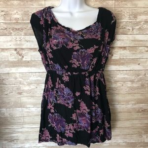 Free People floral blouse Size Small